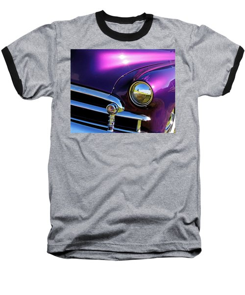 Custom Purple Chevy Baseball T-Shirt