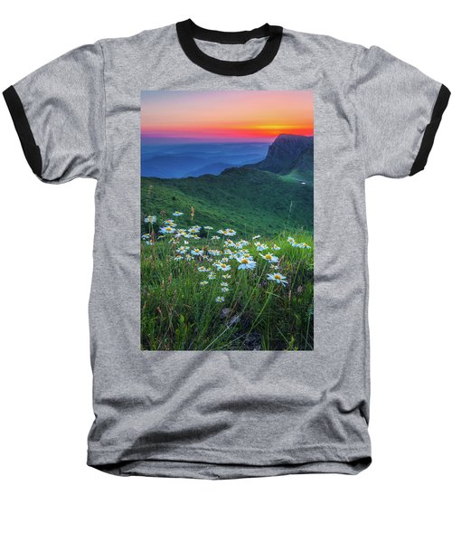 Daisies In The Mountain Baseball T-Shirt