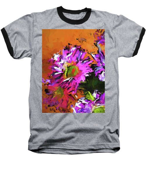 Daisy Rhapsody In Lavender And Pink Baseball T-Shirt