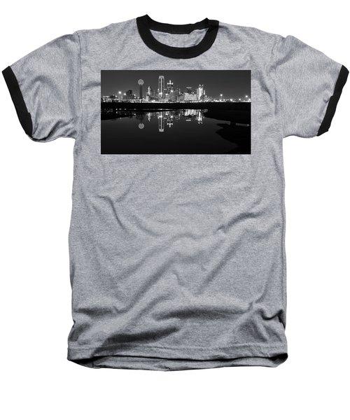 Dallas Texas Cityscape Reflection Baseball T-Shirt