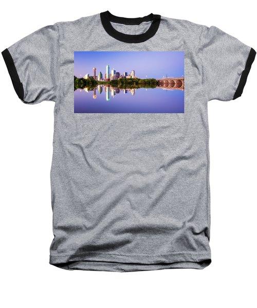 Dallas Texas Houston Street Bridge Baseball T-Shirt