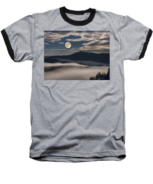 Dance Of Clouds And Moon Baseball T-Shirt
