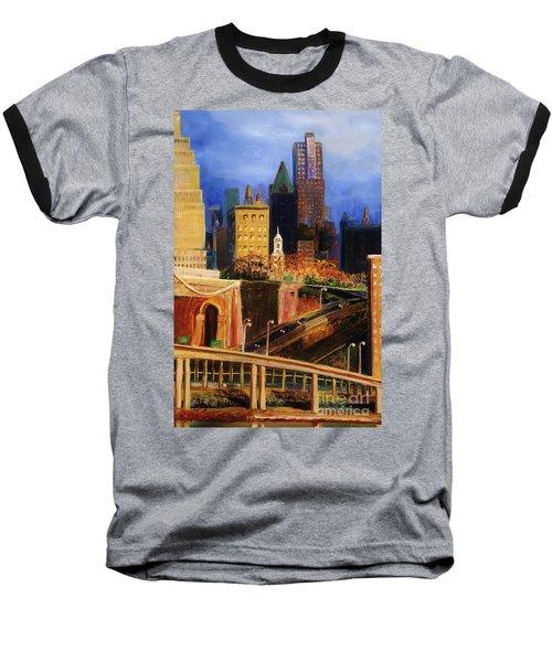 Dawn At City Hall Baseball T-Shirt