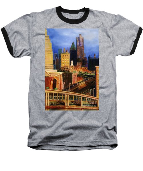 Dawn At City Hall Baseball T-Shirt