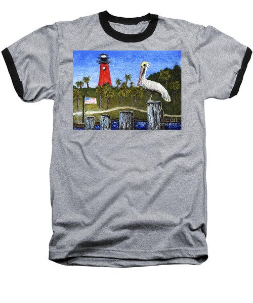 Aceo Dawn At Jupiter Inlet Lighthouse Florida 52a Baseball T-Shirt