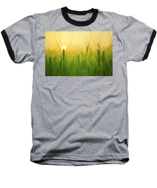 Dawn At The Wheat Field Baseball T-Shirt