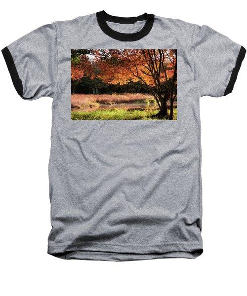 Dawn Lighting Rhode Island Fall Colors Baseball T-Shirt