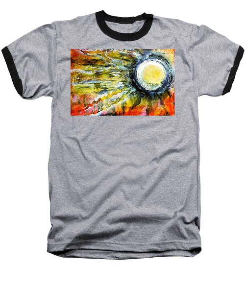 Baseball T-Shirt featuring the painting Dawn Of A New Sun by 'REA' Gallery