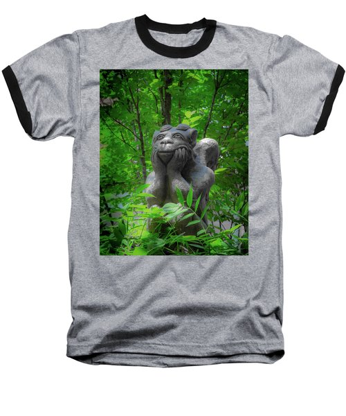 Daydreaming Gargoyle Baseball T-Shirt