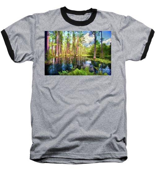Dazzling Cypress Reflections Ap Baseball T-Shirt