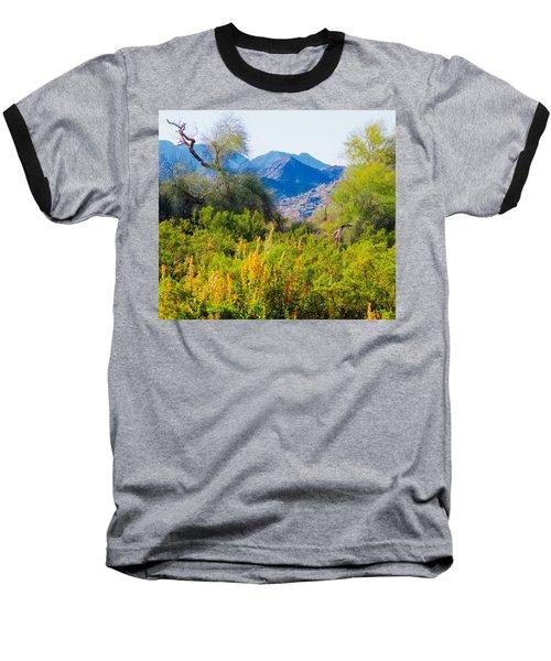 Deep Desert Valley In A Sonoran Desert Spring Baseball T-Shirt