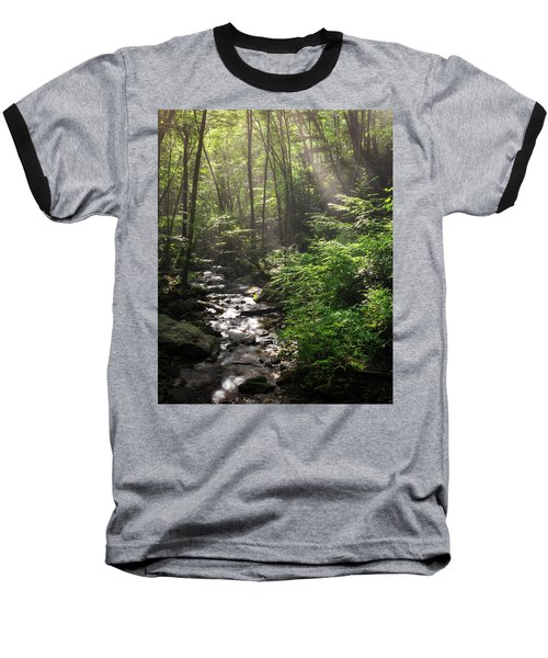 Deep In The Forrest - Sun Rays Baseball T-Shirt