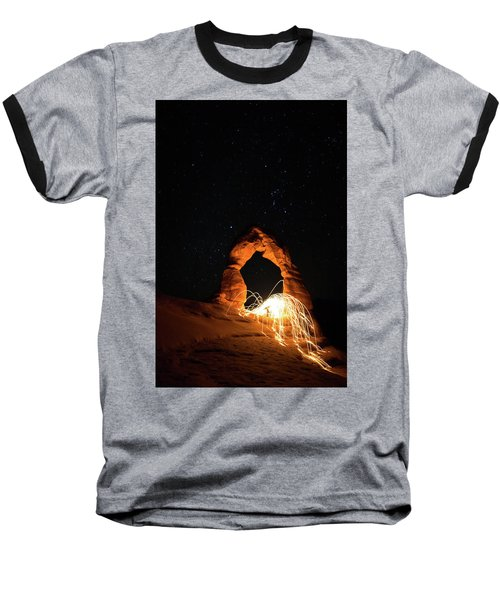 Delicate Arch Steel Wool Baseball T-Shirt