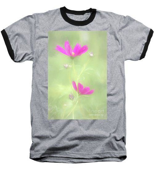 Delicate Painted Cosmos Baseball T-Shirt