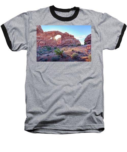 Desert Sunset Arches National Park Baseball T-Shirt