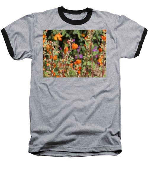 Desert Wildflowers Baseball T-Shirt