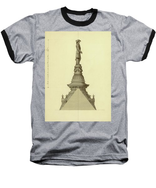 Design For City Hall Tower Baseball T-Shirt