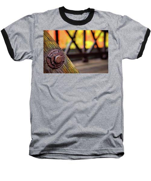 Details On A Covered Bridge Baseball T-Shirt