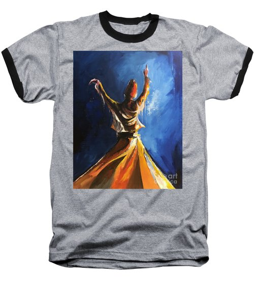 Baseball T-Shirt featuring the painting Devotion  by Nizar MacNojia