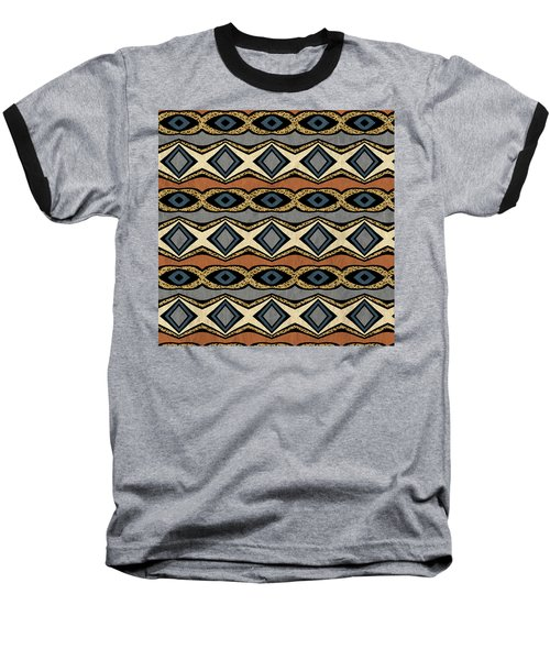 Diamond And Eye Motif With Leopard Accent Baseball T-Shirt
