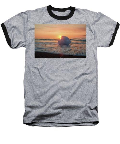 Diamond Beach Sunrise Iceland Baseball T-Shirt