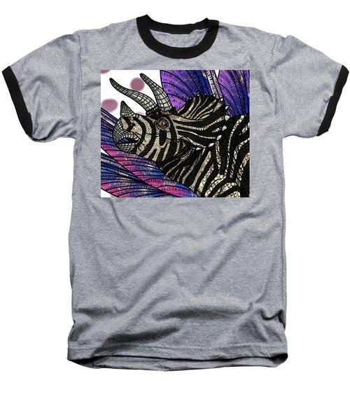 Dinosaur Triceratops Head Baseball T-Shirt