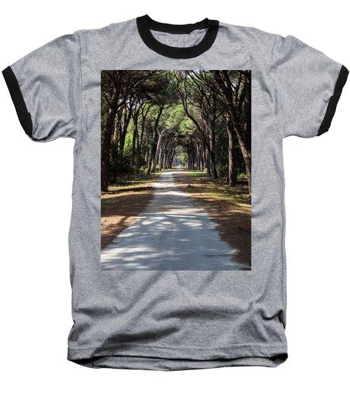 Dirt Pathway In A Mediterranean Pine Forest Baseball T-Shirt