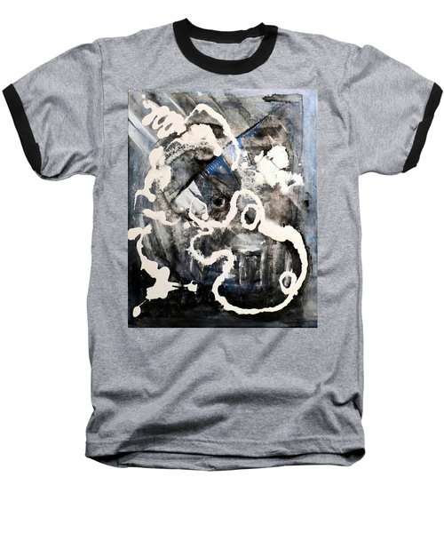Baseball T-Shirt featuring the painting Dismantling by 'REA' Gallery