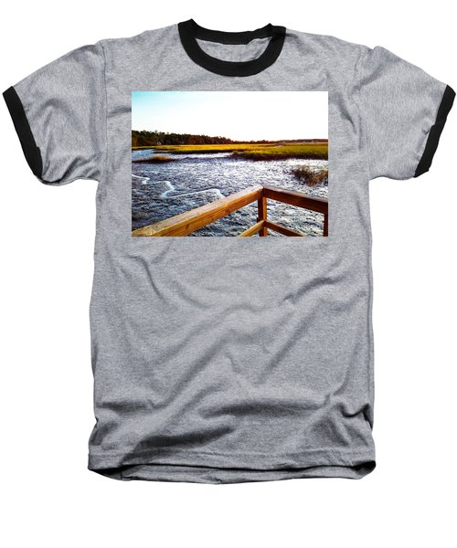 Baseball T-Shirt featuring the photograph Dock Point by Robert Knight