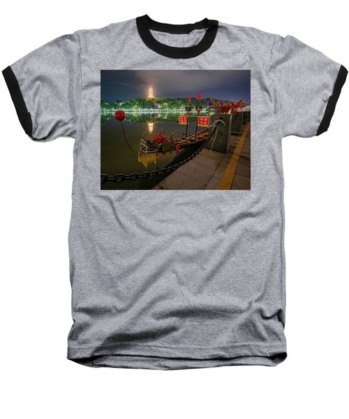 Docked Dragon Boat At Night I Baseball T-Shirt
