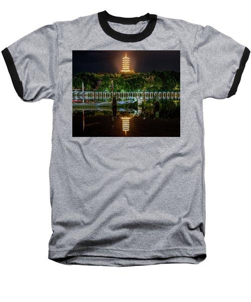 Docked Dragon Boat At Night IIi Baseball T-Shirt