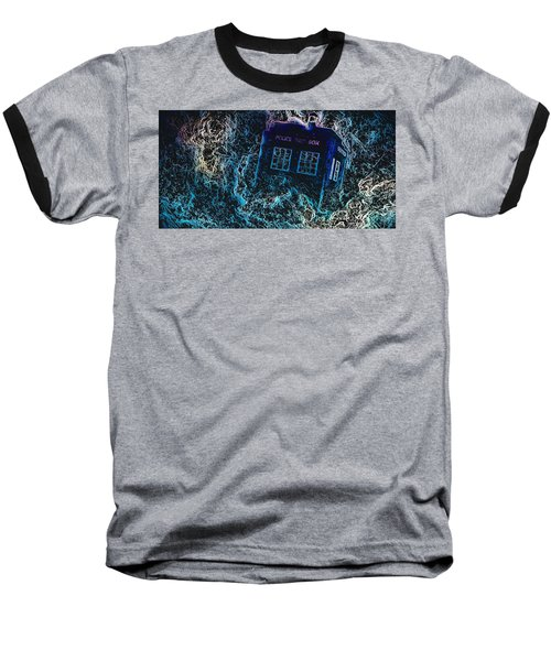Doctor Who Tardis 3 Baseball T-Shirt