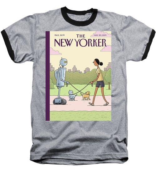 Dog Walking 2.0 Baseball T-Shirt