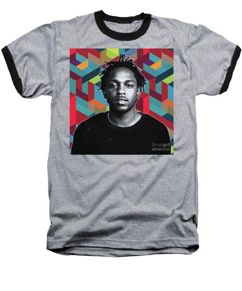 Baseball T-Shirt featuring the painting Don't Kill My Vibe Kendrick by Carla B