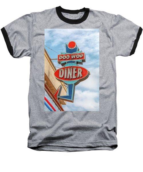 Doo Wop Diner Wildwood Baseball T-Shirt