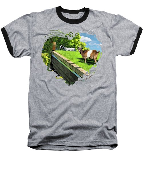Door County Al Johnsons Swedish Restaurant Goats Baseball T-Shirt
