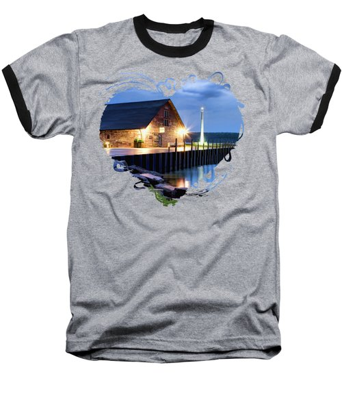 Door County Anderson Dock Twilight Baseball T-Shirt