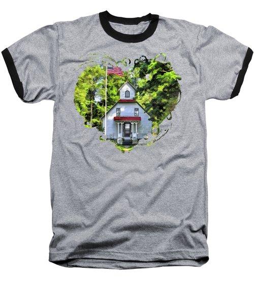Door County Baileys Harbor Upper Range Lighthouse Baseball T-Shirt