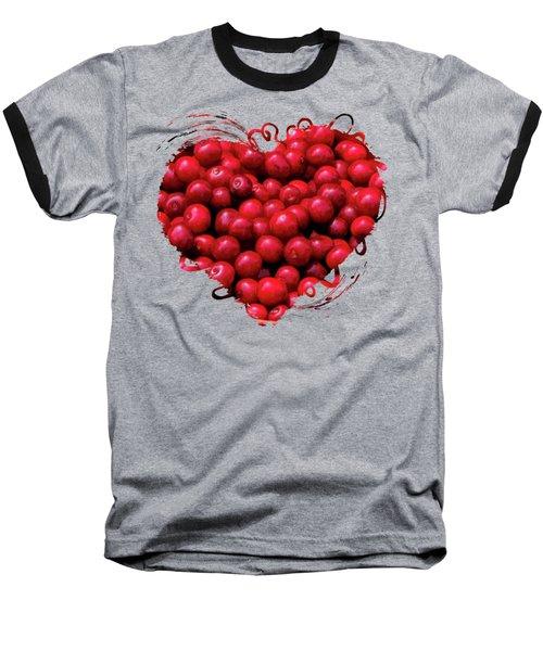 Door County Buckets Of Cherries Baseball T-Shirt