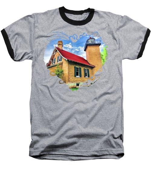 Door County Eagle Bluff Lighthouse Baseball T-Shirt
