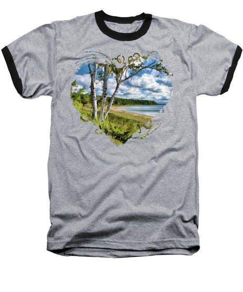 Door County Europe Bay Birch Baseball T-Shirt