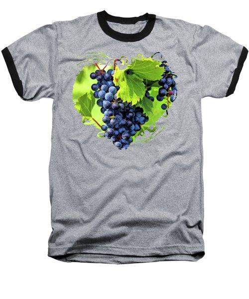 Door County Grape Cluster Baseball T-Shirt