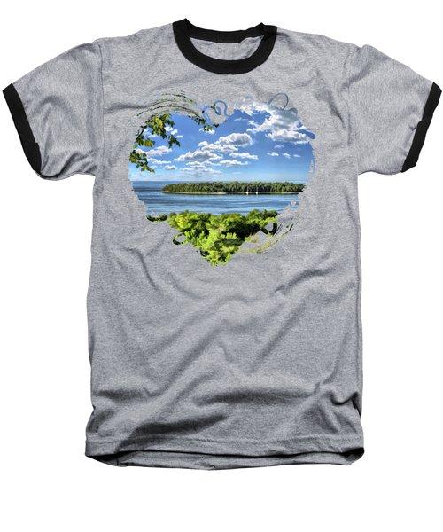 Door County Horseshoe Island Baseball T-Shirt