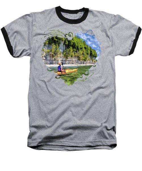 Door County Kayaking Around Rock Island State Park Baseball T-Shirt