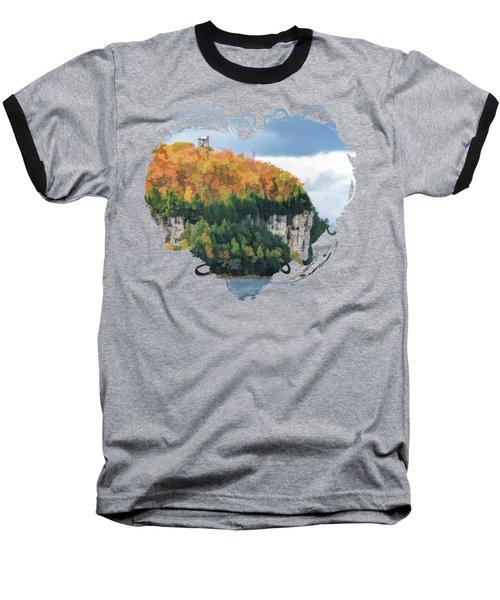 Door County Peninsula State Park Bluff Panorama Baseball T-Shirt