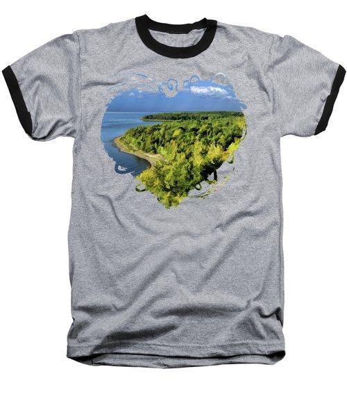 Door County Peninsula State Park Svens Bluff Overlook Baseball T-Shirt