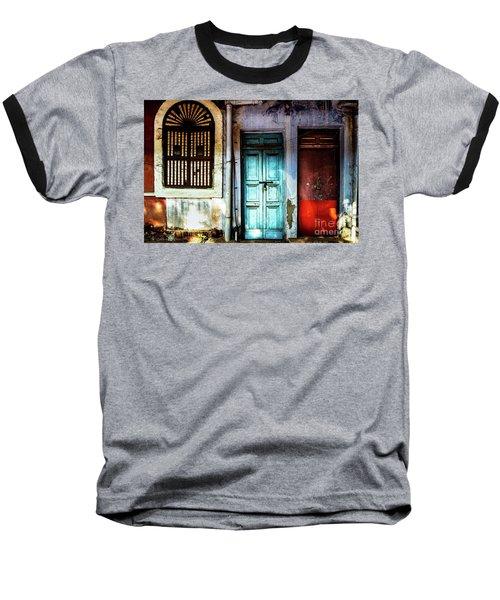 Doors Of India - Blue Door And Red Door Baseball T-Shirt