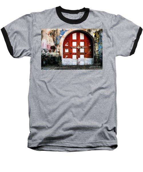 Doors Of India - Garage Door Baseball T-Shirt
