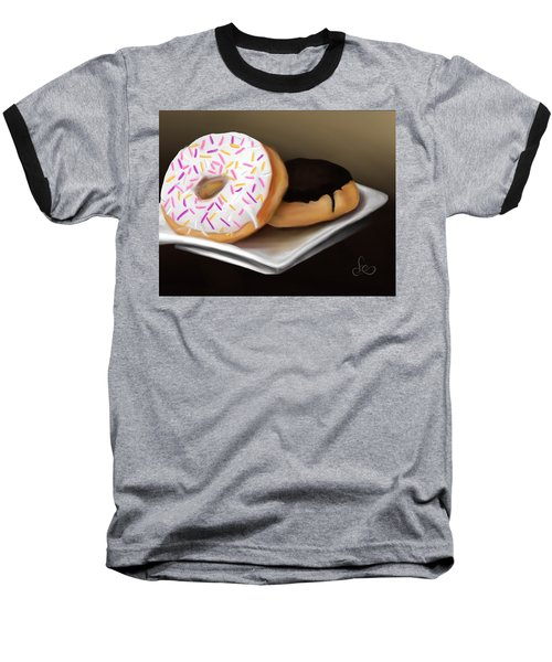 Baseball T-Shirt featuring the painting Doughnut Life by Fe Jones