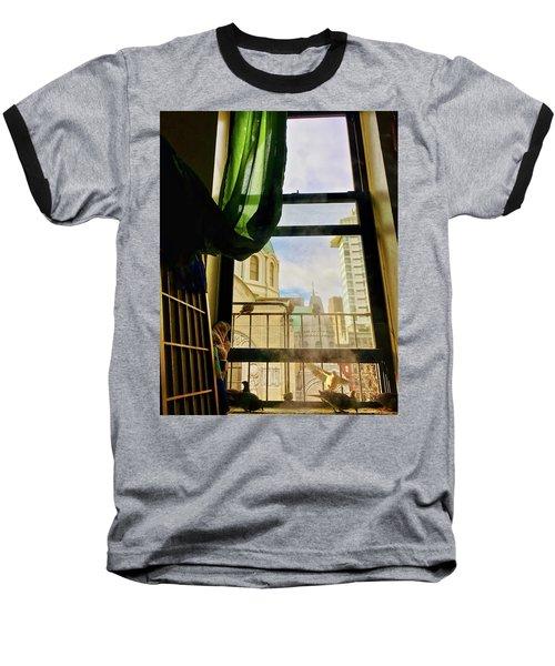 Doves In My Window Baseball T-Shirt